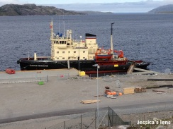 Russian boat at Kirkenes dock