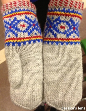 Mittens from East Finnmark, Sami pattern